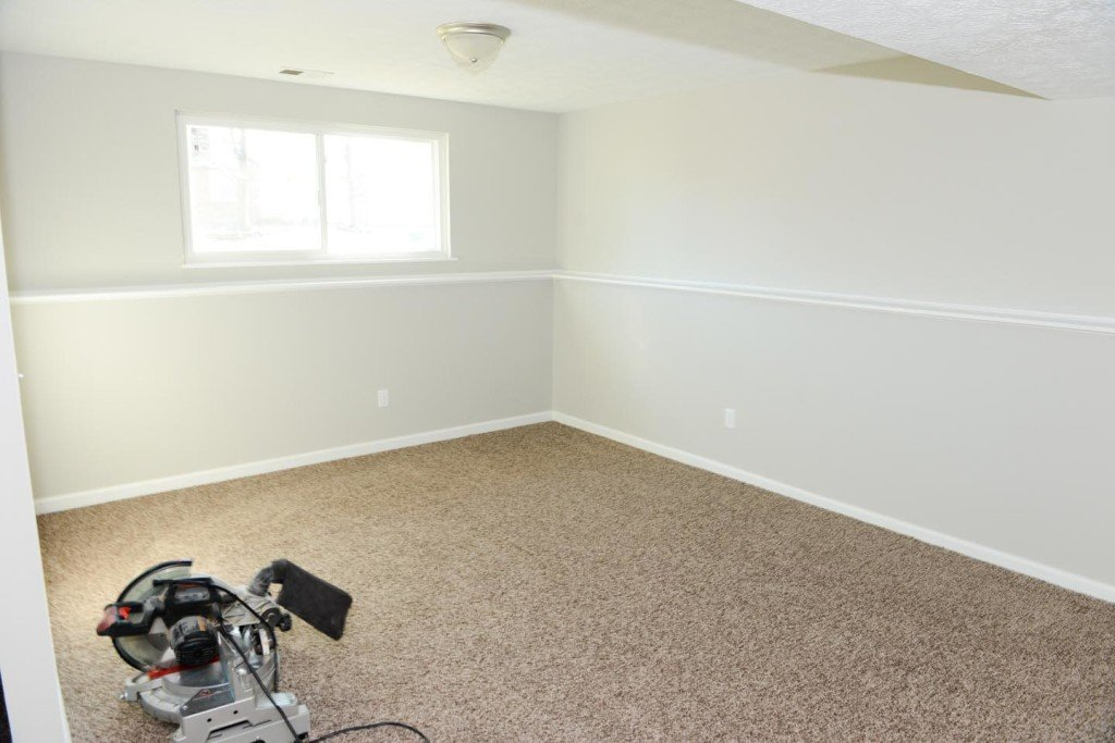 Family Room: New carpet and paint