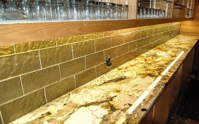 New granite countertop at the bar!