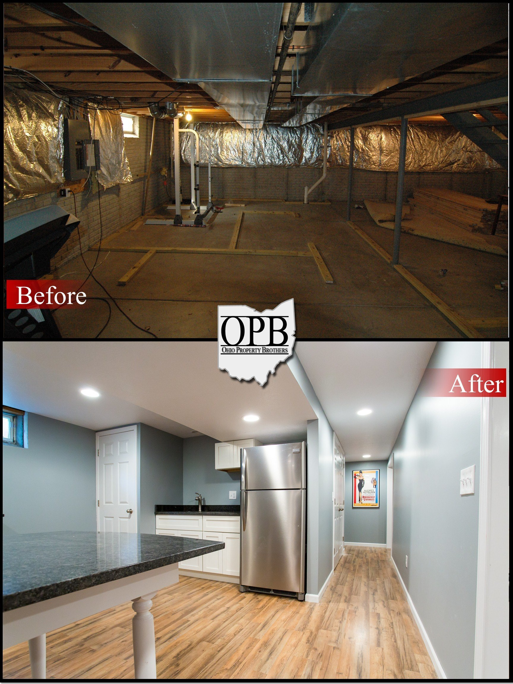 Before-After BUSCH_01 & Before/After u2013 Basement Remodel | Ohio Property Brothers