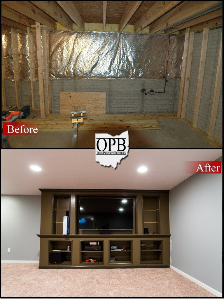 Before After Basement Remodel Ohio Property Brothers