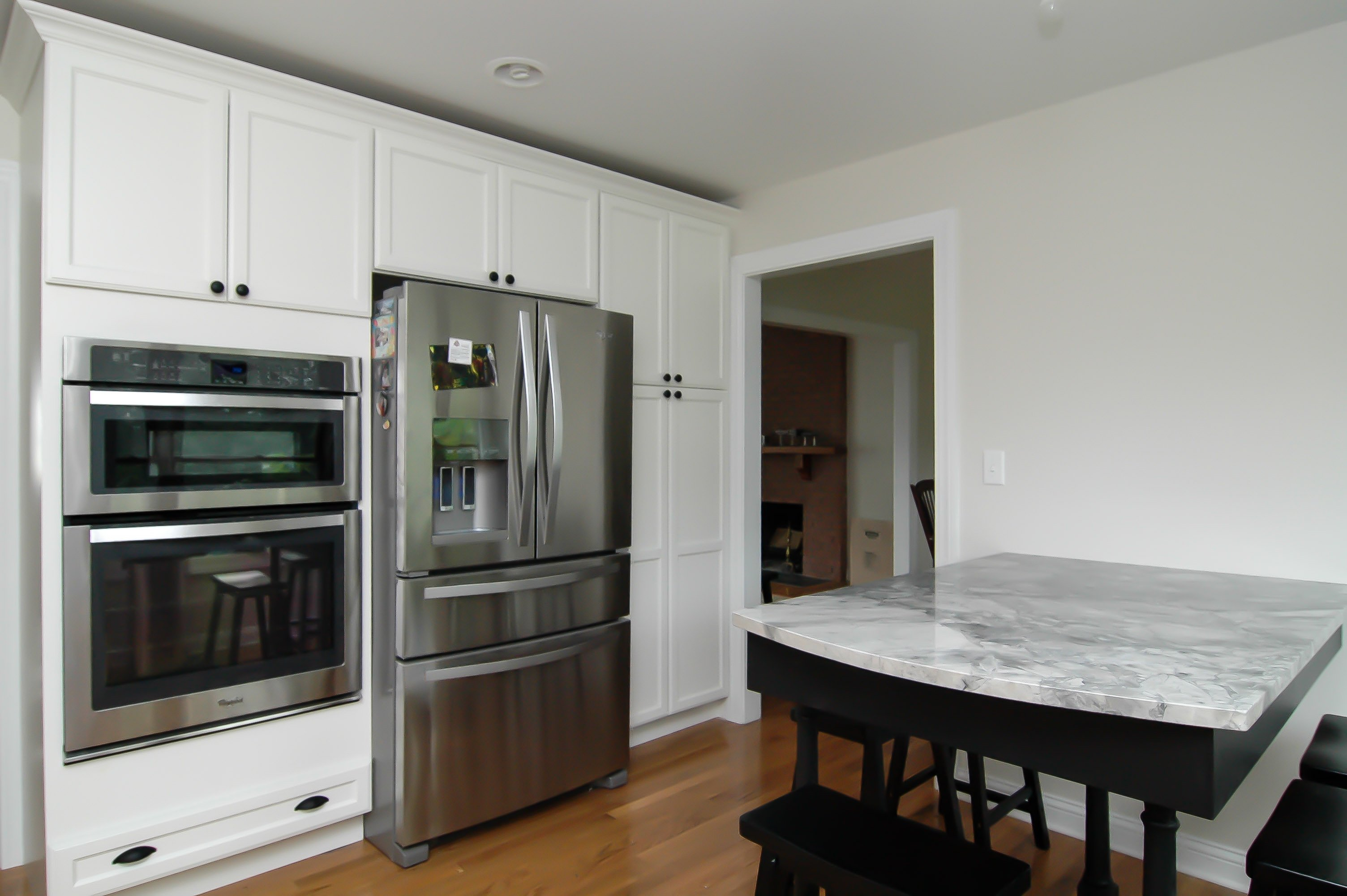 Custom White Kitchen custom white kitchen with super white granite! - ohio property