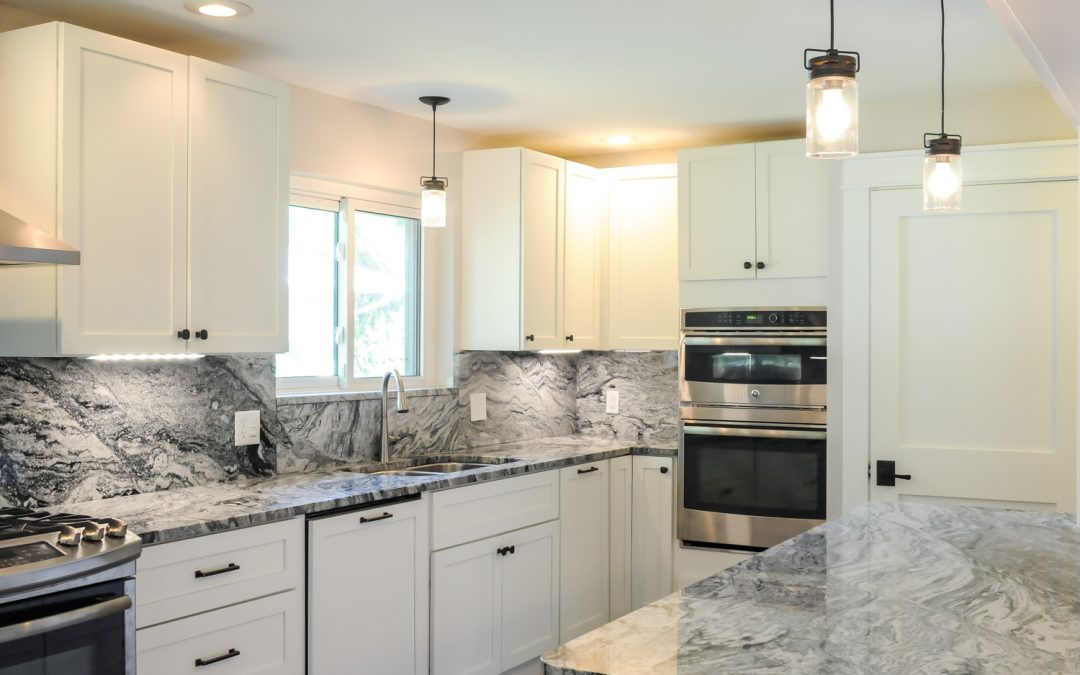 Brand New Kitchen Layout With Aspen Cabinets And Viscount White Granite
