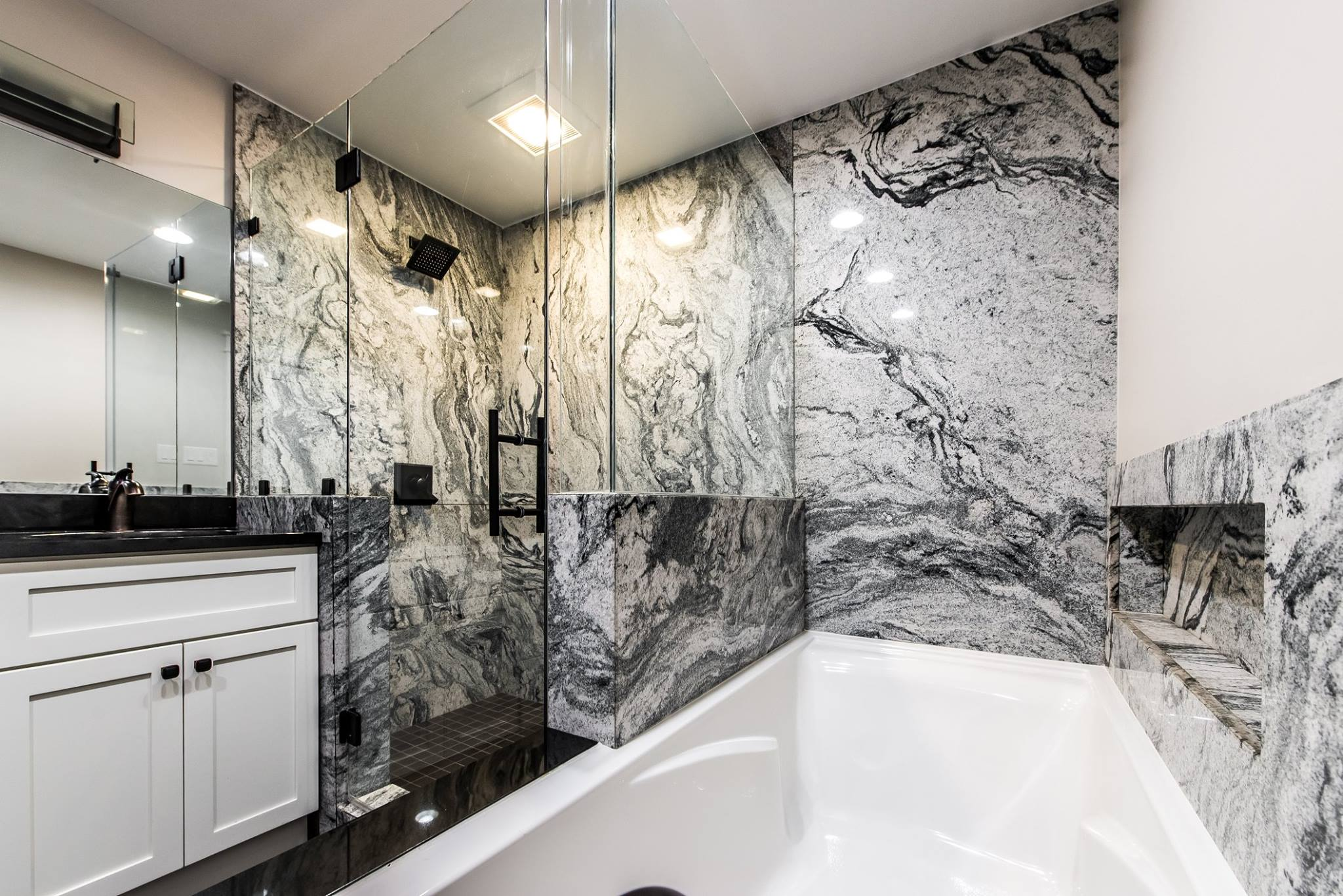 Genial Granite Shower By Ohio Property Brothers 7