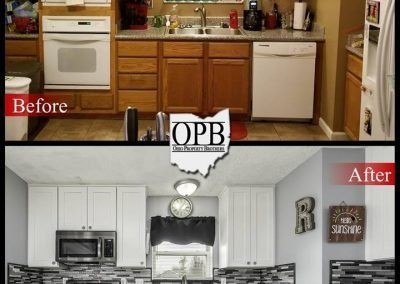 Before & after of kitchen remodel.