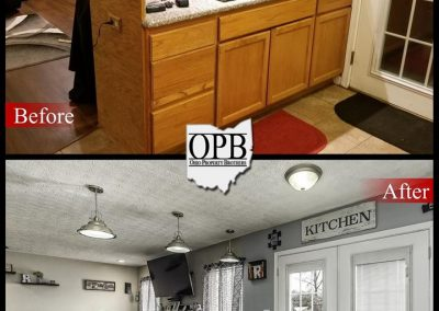 Before & after of kitchen renovation.