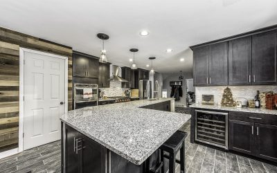 Beautiful Granite and Dark Cabinets